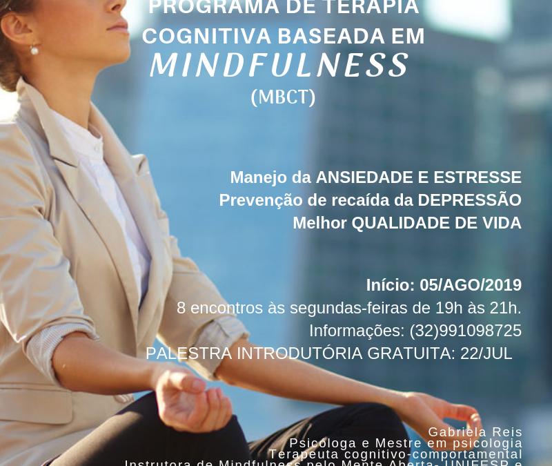 Inscrições abertas para o curso de Terapia Cognitiva baseada em Mindfulness